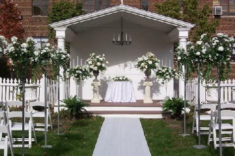 Wedding flowers chair cover rentals and decor